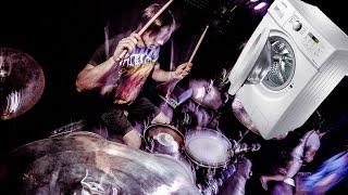 Death Metal Drumming Washing Machine (drum cover)