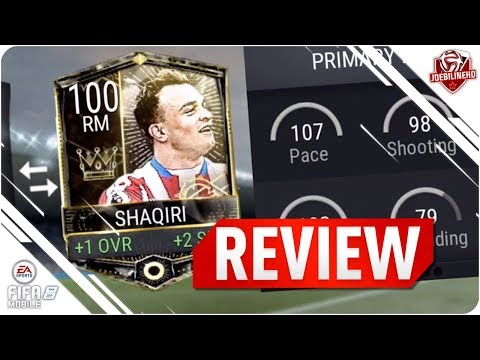 FIFA MOBILE 100 SHAQIRI REVIEW #FIFAMOBILE 100 PRESEASON MASTER  SHAQIRI PLAYER REVIEW GAMEPLAY