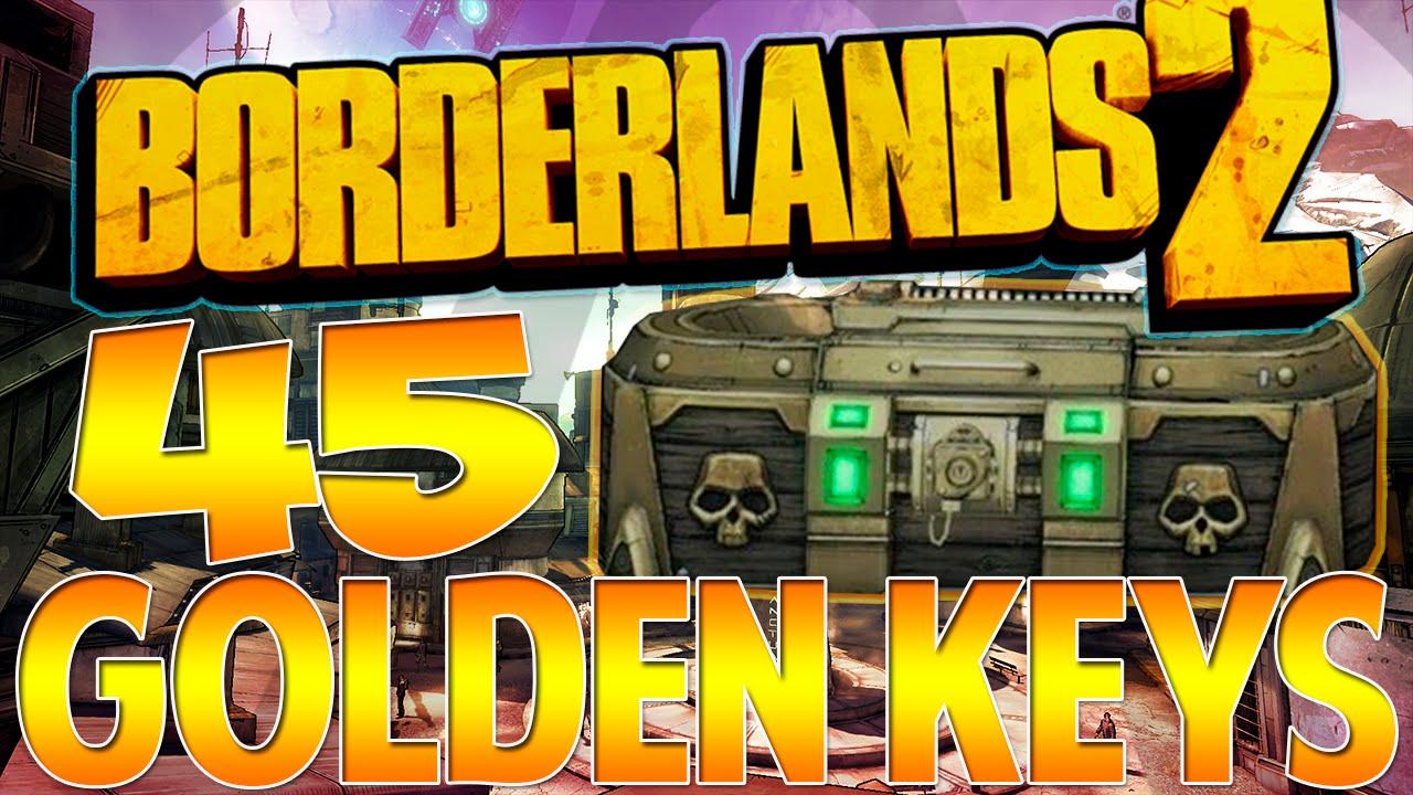 45 GOLDEN KEYS OPENING! OPENING 45 LEVEL 56 GOLDEN KEYS IN BORDERLANDS 2! (Borderlands 2) - YouTube