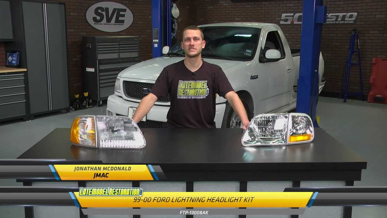 Ford F 150 Svt Lightning Headlight Install 99 04 Youtube