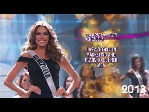 Miss Universe Latinas In The Top 16 (2000 to 2013)