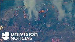Imágenes del incendio Woosley  en California