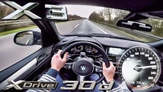 BMW X3 2017 Xdrive 30d ACCELERATION & TOP SPEED POV Test Drive by AutoTopNL