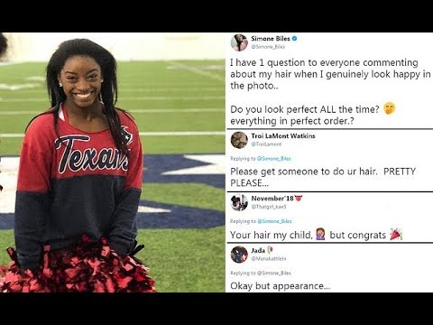 Simone Biles claps back at people who criticized her hair