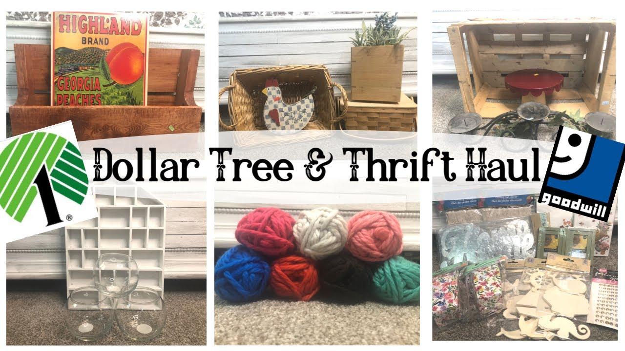 *NEW* DOLLAR TREE HAUL | DOLLAR TREE MUST HAVES | THRIFT HAUL | THRIFT  TO TREASURE HAUL | DIY HAUL