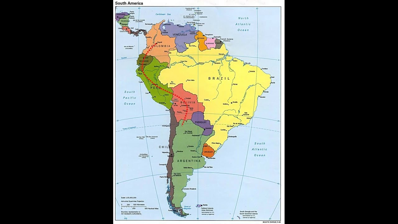 SUR AMERICA MAPA | Dictionary Bank