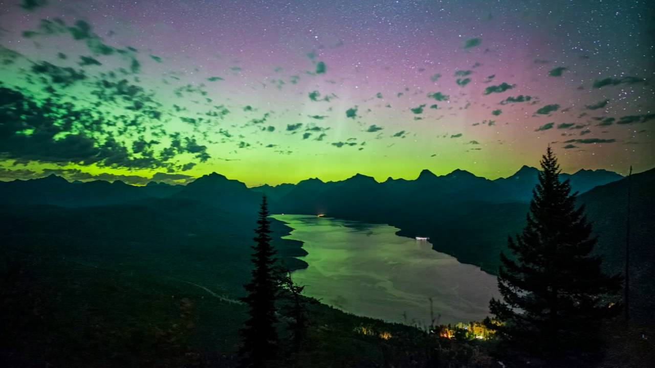 Northern Lights Glacier National Park