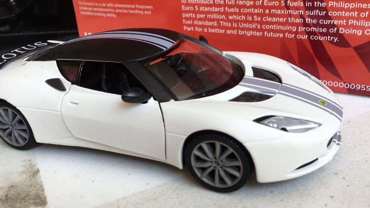 Unioil Free Toy Car 2018 Promo Limited Edition Lotus Evora S Youtube