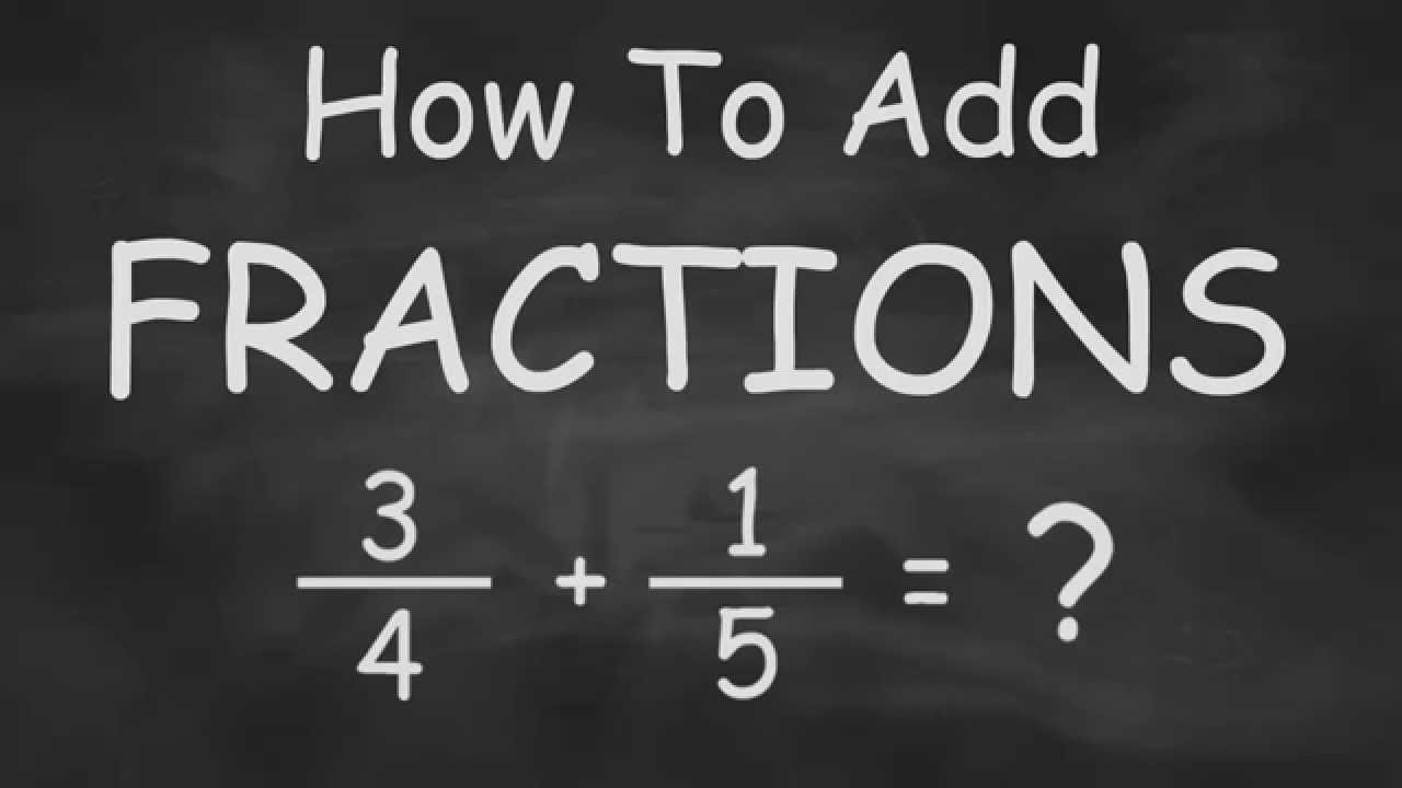 how to add fractions quickly