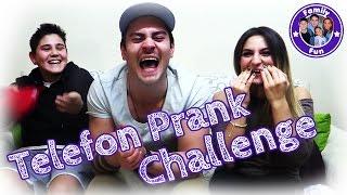 TELEFON PRANK CHALLENGE - 8 Wörter 1 Gespräch - Family Fun
