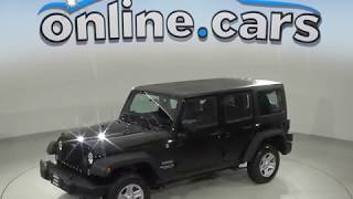 A99487DP 2015 Jeep Wrangler Unlimited Sport 4WD Black Test Drive, Review, For Sale