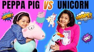Peppa Pig vs Unicorn Challenge    Switchup Challenge   Cute Sisters