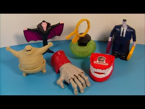 2012 HOTEL TRANSYLVANIA SET OF 6 McDONALDS HAPPY MEAL MOVIE TOYS  REVIEW