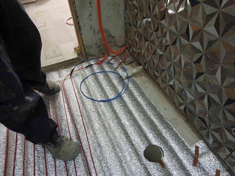 Colocar losa radiante eléctrica