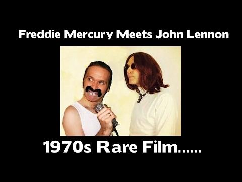 Freddie Mercury Meets John Lennon 1970s RARE