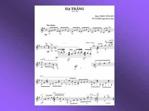 HẠ TRẮNG (Trịnh Công Sơn) - Võ Tá Hân chuyển soạn cho Guitar