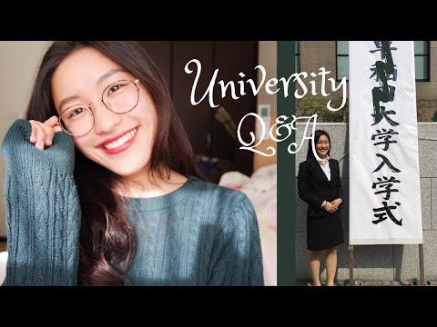 [q&a]-どこの大学に通ってるの?//-春から大学生のみんなへ!//大学での勉強について!