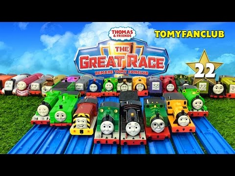 THOMAS AND FRIENDS THE GREAT RACE #22 TRACKMASTER NEW ENGINE BLACK JAMES | TOMY FANCLUB