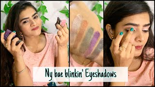 Ny bae Blinkin Eyeshadows | Review & Swatches | Cute Girl Eyelook | Makeup make in 30 secs | Ria Das