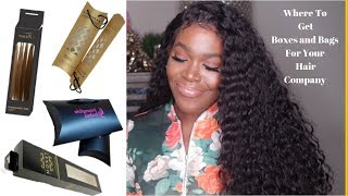 Where To Find Boxes and Bags For Your Hair Company