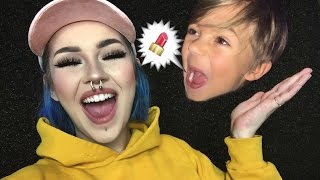 One of itslikelymakeup's most viewed videos: my 6 year old son did my makeup voiceover & killed it obviously