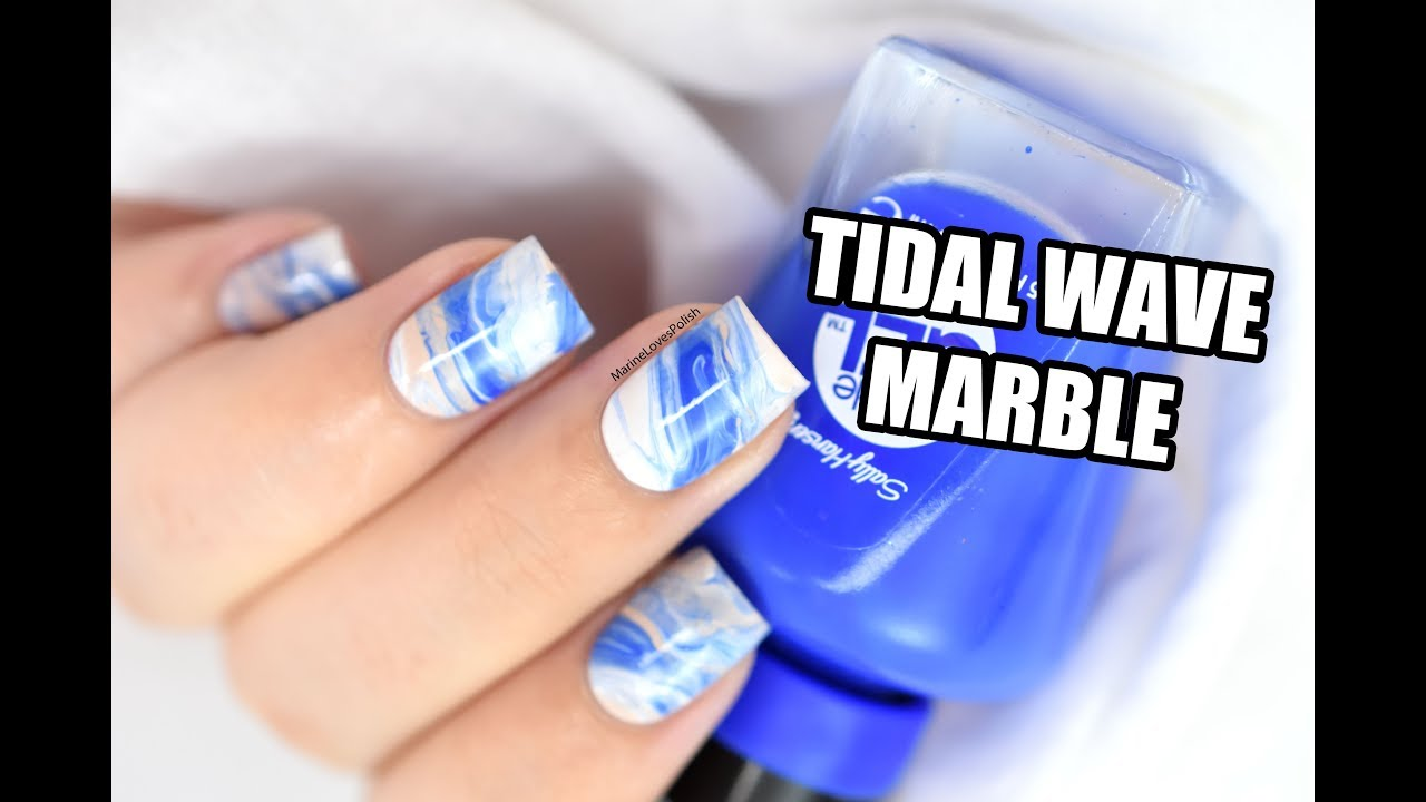 How To: Tidal Wave Marble Nail Art || Marine Loves Polish - YouTube