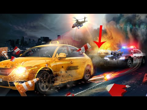 Police Chase -Death Race Speed Car Shooting Racing | Android Kids Police Car Animation Gameplay 2019