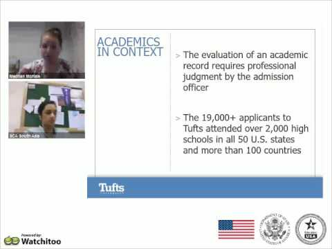 Webinar: Selective Admissions - Tufts University