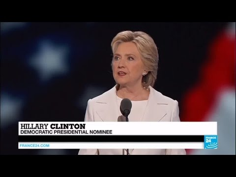 US presidential race: Hillary Clinton accepts Democratic Party nomination