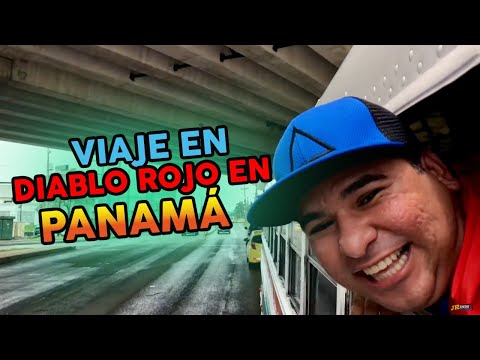 Viajando en diablo rojo en Panamá - Normal vlog / JR INN