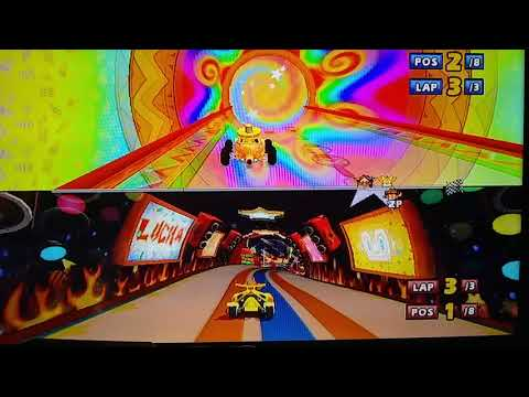 Plush gaming, crash and Sonic play Sonic and Sega allstars racing!! |