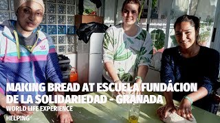 World Life Experience lucky travelers learn how to make bread