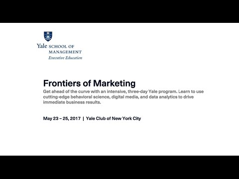 Intro to the Yale Frontiers of Marketing Program