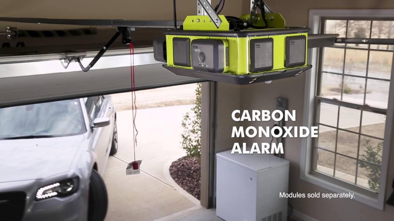 RYOBI Garage Door Opener Module System - YouTube