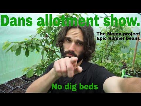 Dans allotment show. Melon Project, No dig beds.
