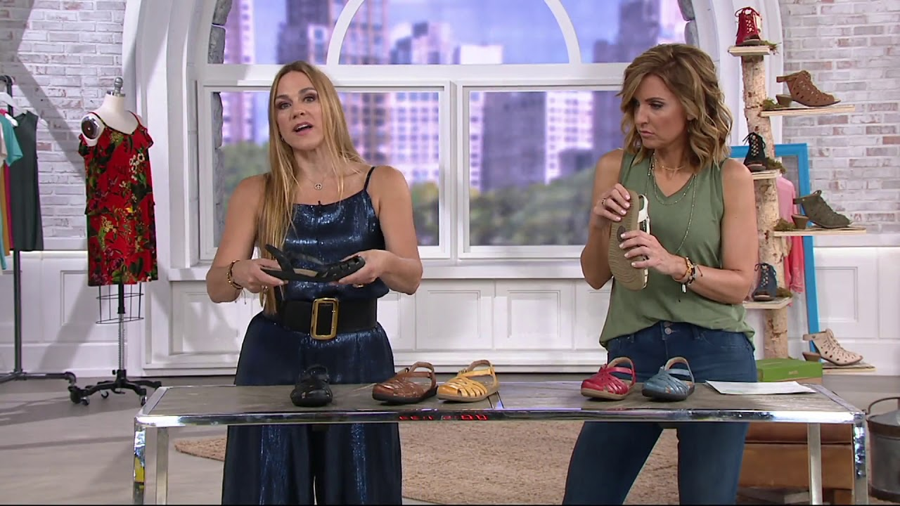 d7bc6ef378bf Earth Origins Leather Closed Toe Sandals - Nellie on QVC - YouTube