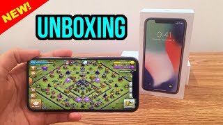 NEW iPhone X Unboxing! | How Is Clash of Clans on iPhone X?