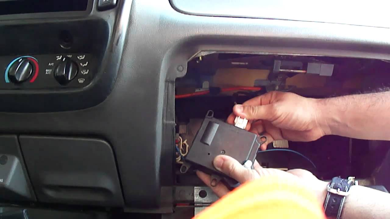 testing blend door actuator 2003 ford ranger edge