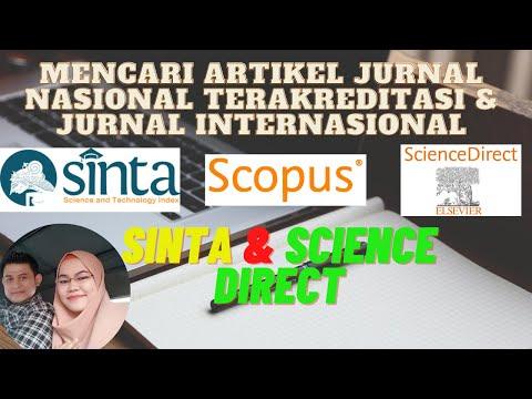 Mencari Artikel Jurnal Nasional Terakreditasi Jurnal Internasional Part 1 Sinta Science Direct Youtube