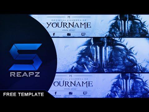 YouTube Banner - download Free (DESC.) // YT Template 2015