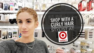 Shopping for Accessories SAFE for CURLY HAIR at Target. My Professional Tips for Safe Styling.