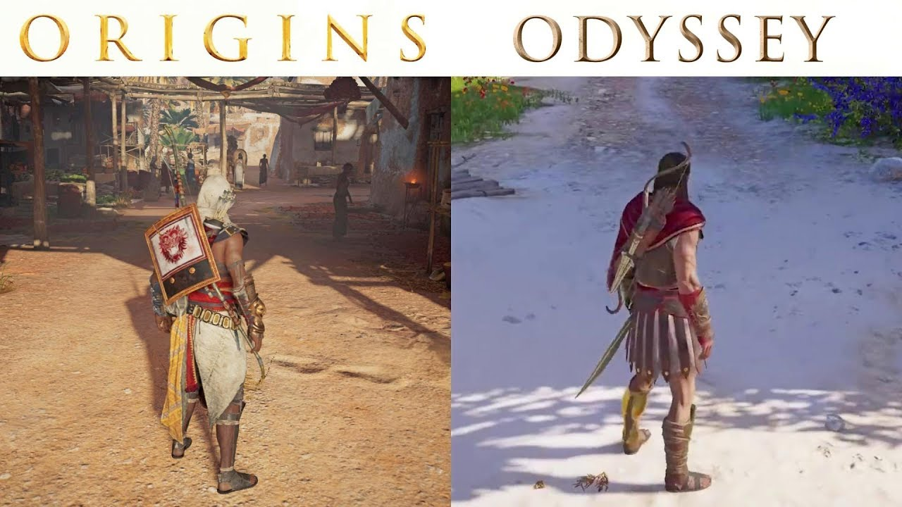 Assassin's Creed Odyssey vs Origins - Graphics and Gameplay Comparison