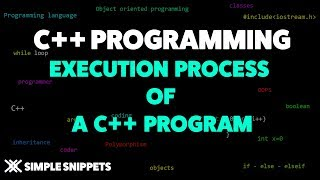 Execution Process of a C++ Program | C++ programming for beginners