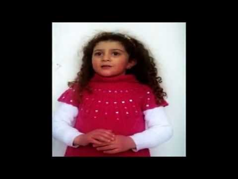 5 years old talented girl recites poem ,commemorating 98 years of the Armenian genocide
