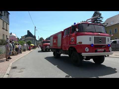 Festumzug Feuerwehr Adorf/ Erzgebirge 8. Floriansfest Und 4. Orchestertreffen