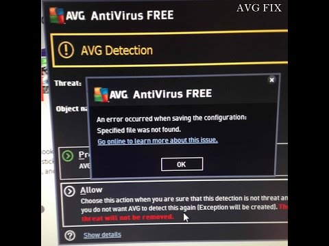 AVG ERROR: Specified file was not found - FIX