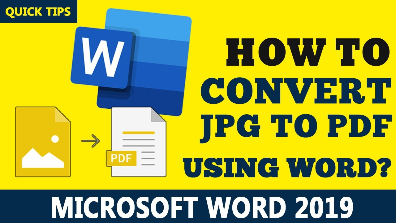 How To Convert Jpg To Pdf Using Microsoft Word 20   Step By Step Guide