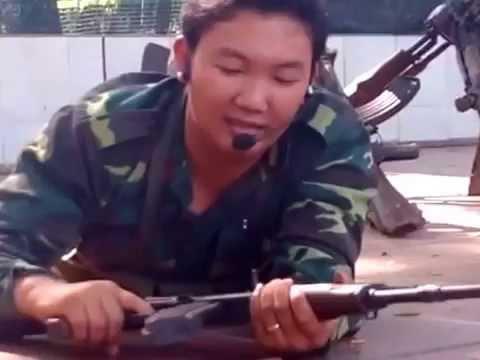 Kỹ thuật bắn súng tiểu liên AK - thầy Khoa GDQP #duyspsgdqp