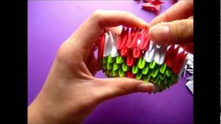 Hello Kitty In A Keroppi Costume 3d Origami Tutorial