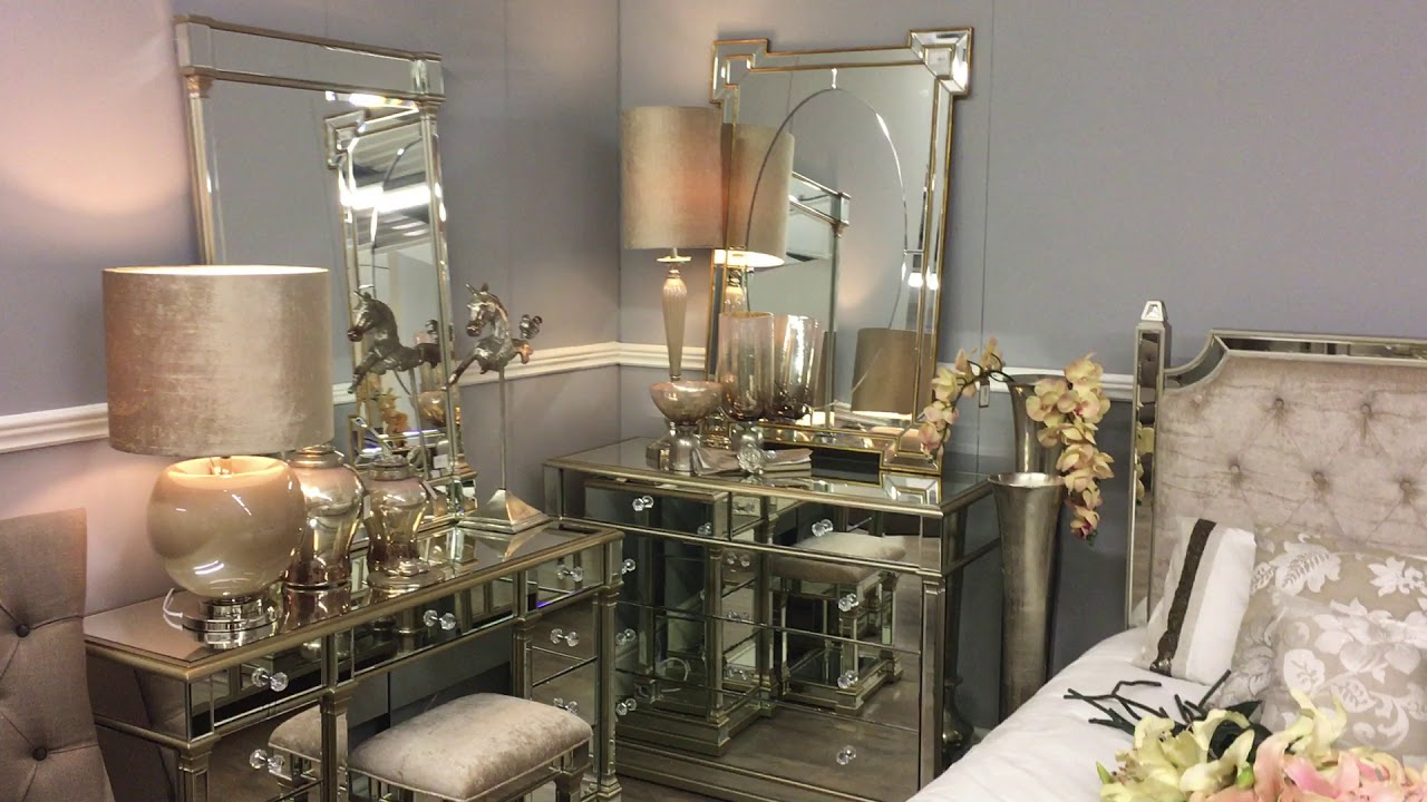 The Look Athens Gold Mirrored Bedroom Furniture
